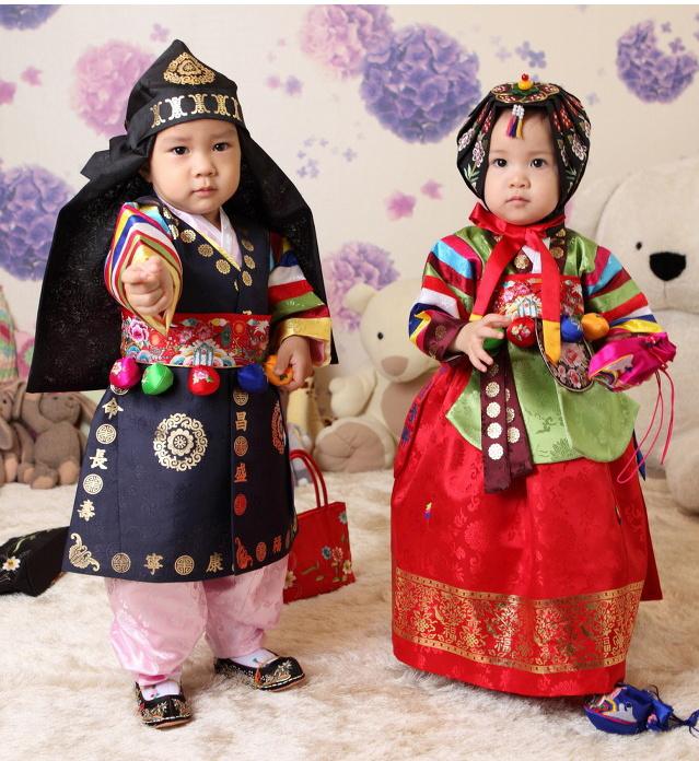korean children wear hanbok
