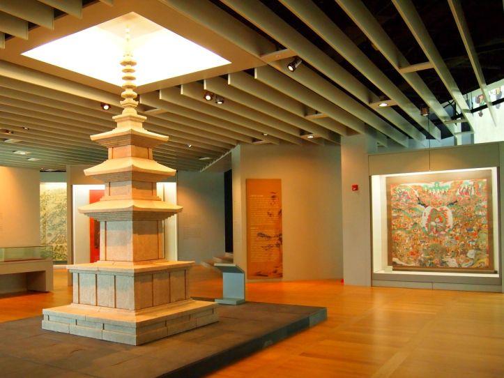 Pagoda~salah satu atraksi budaya yang ditampilkan di musium kebudayaan Korea di Incheon Airport