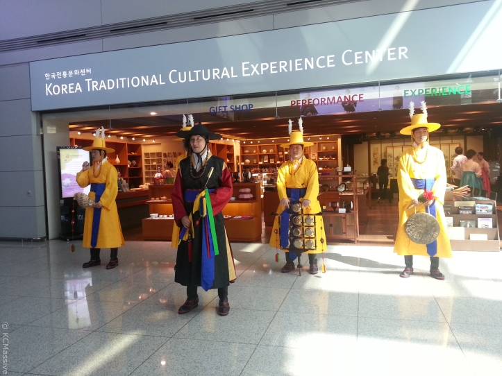 korean cultural street at incheon airport