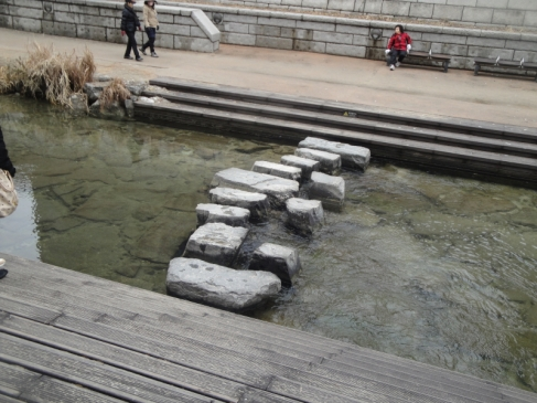 stepping stones of chyeonggyecheon stream