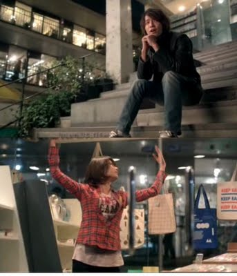 scene Donghae & SooYoung di Ssamziegil, Insadong