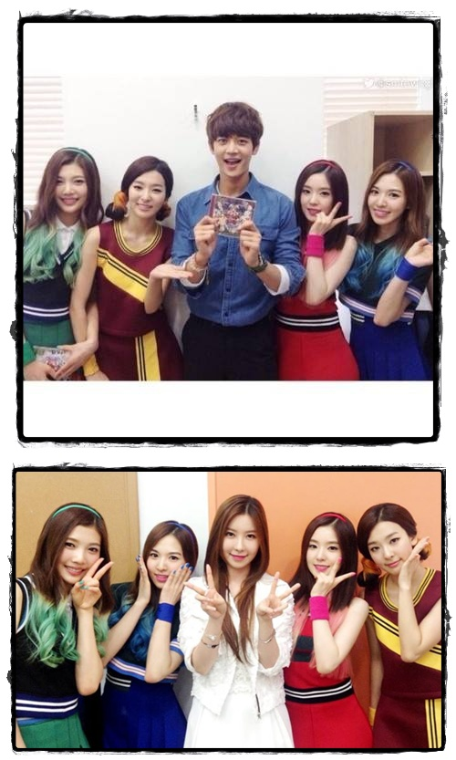 Red Velvet with Minho SHINee & J-Min (photo source : Red Velvet Official Fanpage)
