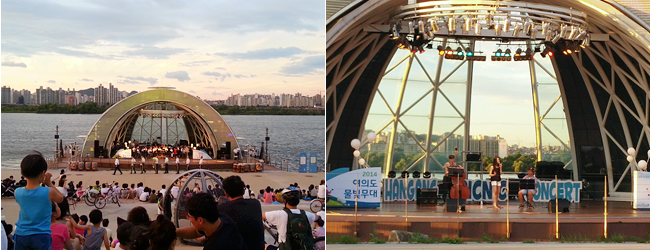 Hangang Mulbit Festival (photo credit to Seoul Metropolitan Government~Hangang Project Division)