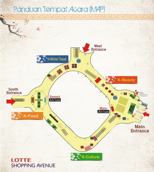 both map @ Lotte Shopping Avenue, Jakarta (photo source credit to : KCC)