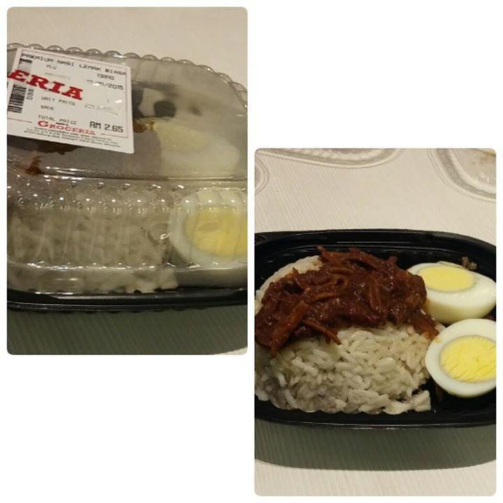 Nasi lemak murah meriah mengenyangkan buat breakfast